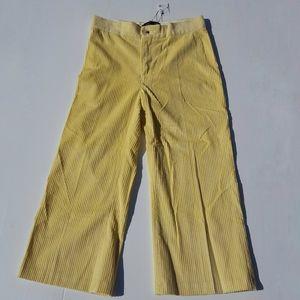 ZARA | NWT Yellow Corduroy Crop Pants size L NEW